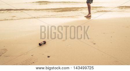 Image Of Sea And Sandglass