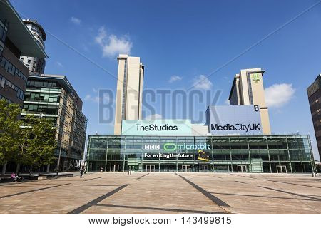 MANCHESTER, ENGLAND - MAY 29:  Media City at the Salford Quays in Manchester, England on May 29, 2016.