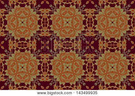 geometry vintage pattern ethnic style ornamental background ornate decor for fabric design endless texture vector illustration