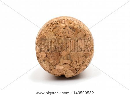 champagne cork cylinder on a white background