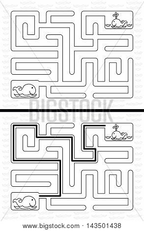 Easy Whale Maze