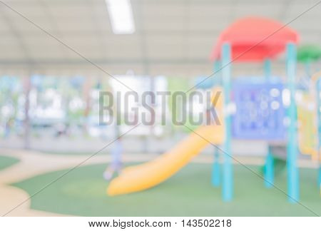 Blur Image Of Children's Playground.