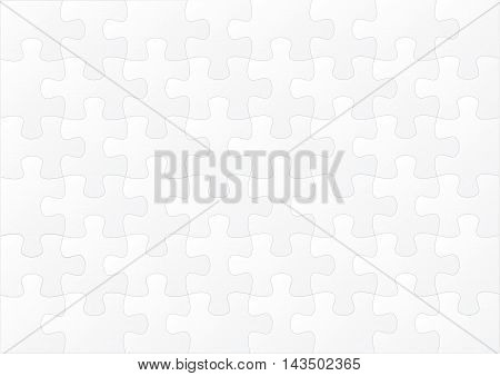 Horizontal White Empty Puzzle Game Background