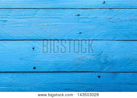 Horizontal Blue Parallel Wooden Boards with Holes