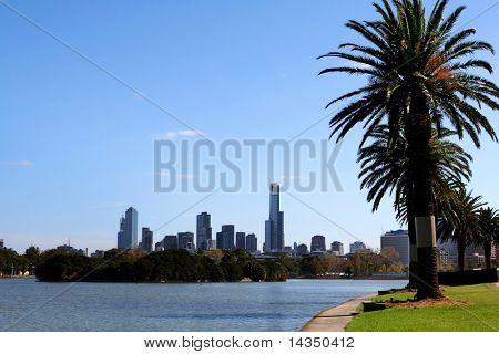 Melbourne, Austrália, em Albert Park Lake
