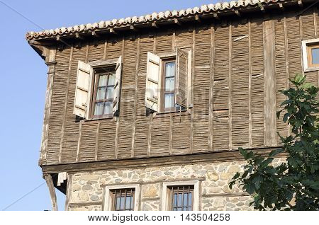 Classic dwelling at old town Sozopol Bulgaria