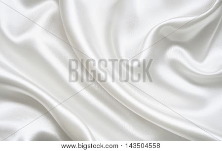 Smooth elegant golden silk can use as wedding background. Retro style.