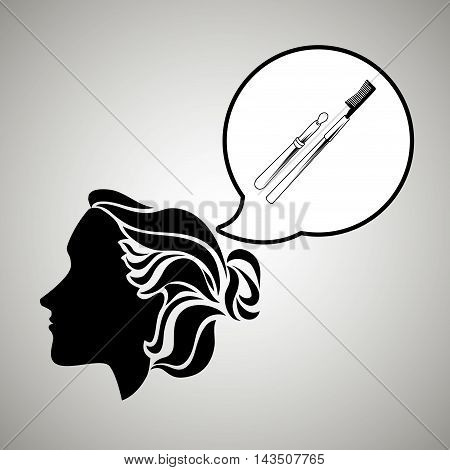 silhouette cosmetic stylist icon vector illustration design