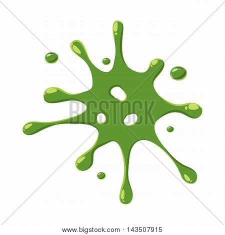 Slime spot isolated on white background. Green slime spot vector illustration