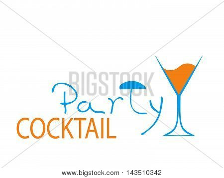 Cocktail Party Vector.Bar Menu Ilustration.Suitable for Poster.Party Design Menu.Invitation Card with Glasses.Alcoholic Bottles Background.Wine List Design.