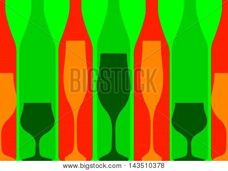 Background Bottle .Alcoholic Bar Menu.Design for Party.Template for Menu Card.Wine List Design.Suitable for Poster.Card Cocktail Party
