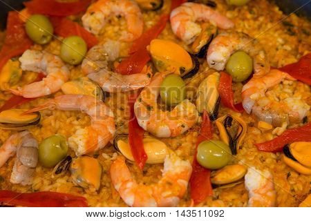 Paella, typical spanish meal, healthy ans tasty