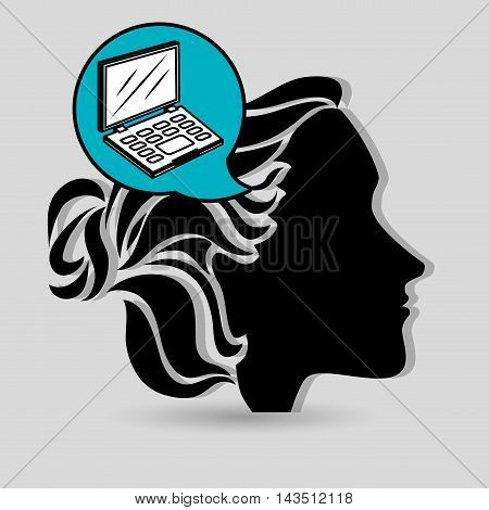 silhouette cosmetic stylist icon vector illustration graphic