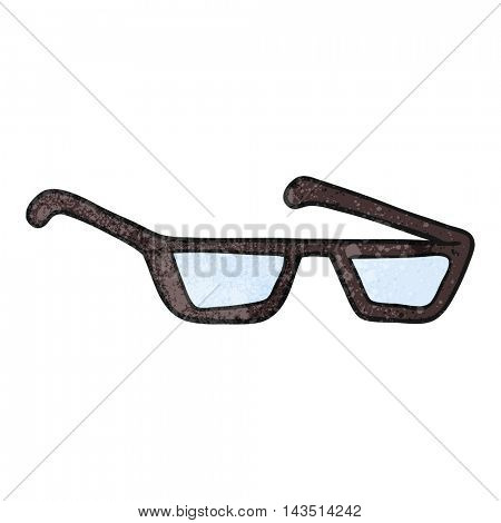 freehand textured cartoon spectacles