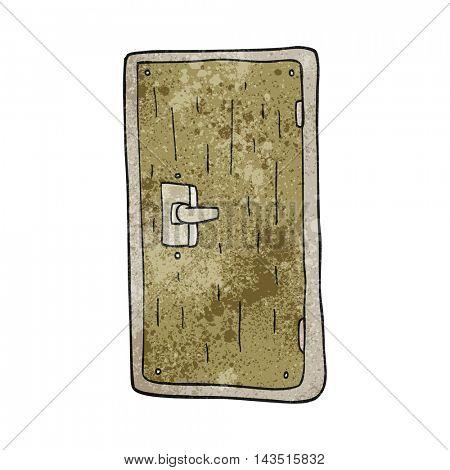 freehand textured cartoon door