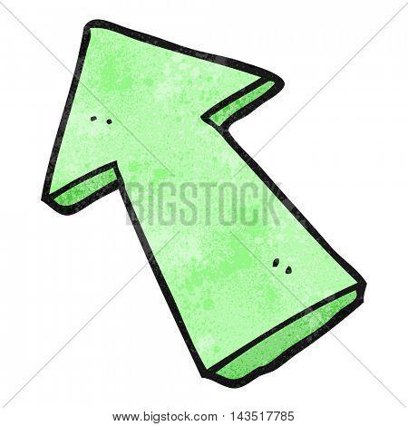 freehand textured cartoon pointing arrow