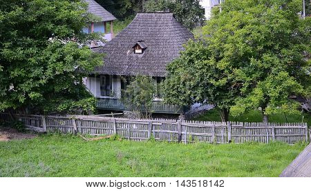 Traditional wooden house in Voineasa area, Romania