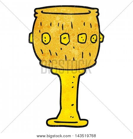 freehand textured cartoon goblet