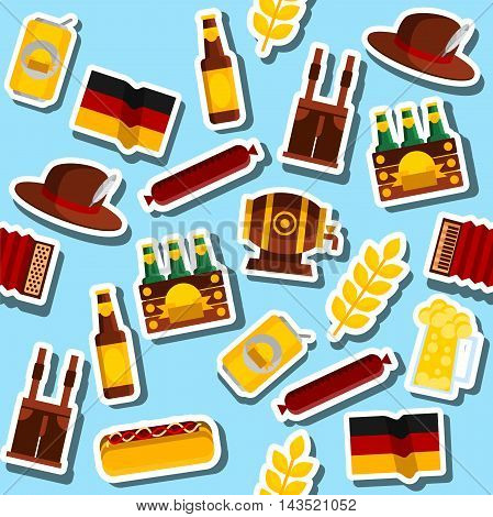 Germany collage. Travel Concept Germany Landmark Flat Icons Design. Vector Illustration