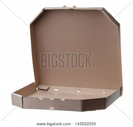 Blank Pizza Boxes Isolated On White Background.