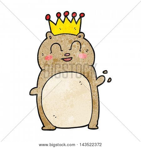 freehand textured cartoon waving hamster
