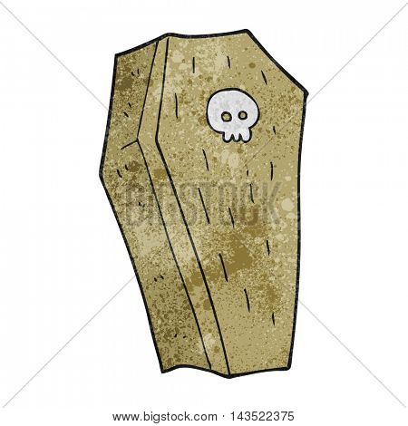 freehand textured cartoon spooky coffin