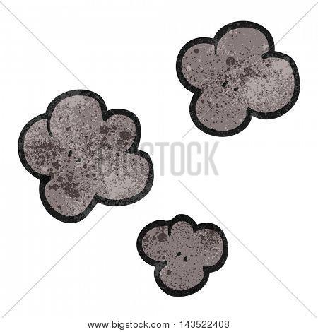 freehand textured cartoon smoke cloud symbol