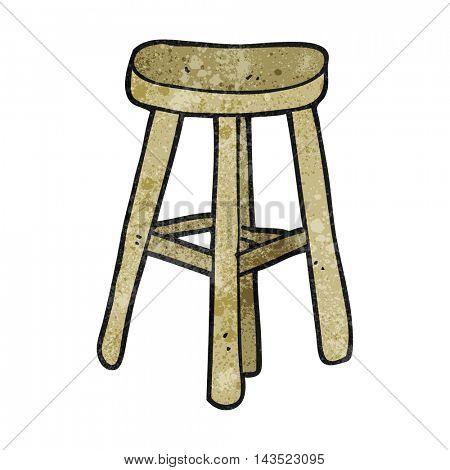 freehand textured cartoon stool