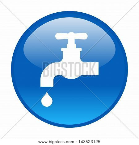 Water tap, vector icon isolated on white background