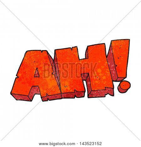 freehand textured cartoon AH! shout