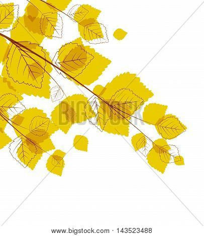 Vector flying autumn leaves background with space for text