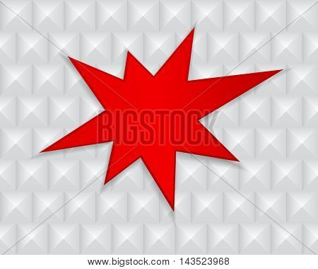 red splash star on abstract geometric background