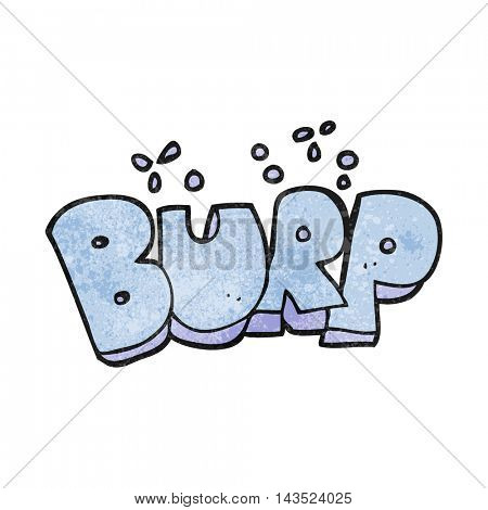 freehand textured cartoon burp text