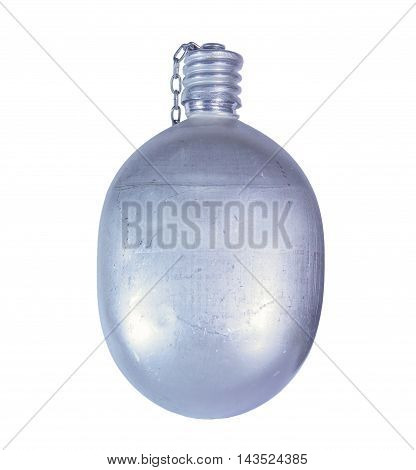 USSR Army aluminum jar isolated on white