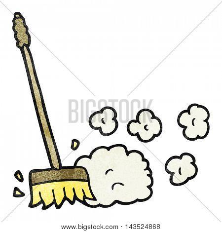 freehand textured cartoon sweeping brush