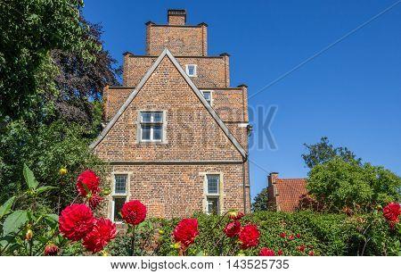 Flowers in front of the Borchhorster Hof in Horstmar Germany