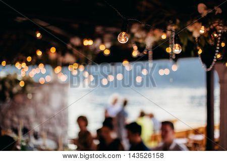 Light Bulb Filament At Party