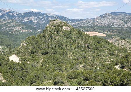 Tarragona Mountains in Tarragona in Catalonia, Spain.