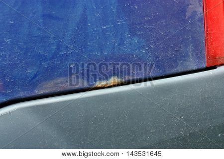 Car With Rust Corrosion