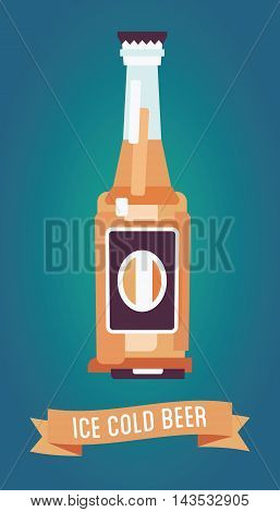 Beer-bottle-flat