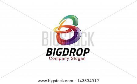 Big Drop Logo Creative And Symbolic Design Illustration