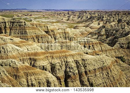 Badlands National Park South Dakota Landscape of layered rock formations