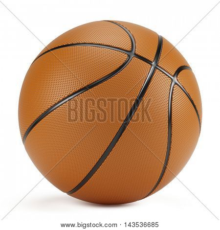 Basketball isolated on white background. 3d rendering