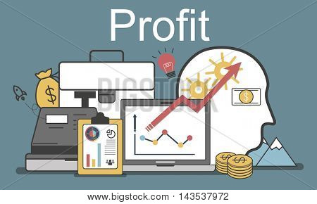 Profit Accounting Finance Auditing Money Banking Concept