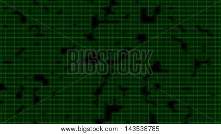 green 8 bit wire frame background image