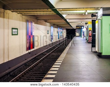 Franzoesische Strasse Subway Station In Berlin (hdr)