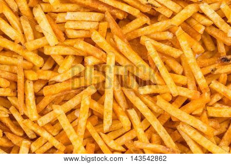 Portion of Potato Sticks (close-up shot) for use as background image or as texture