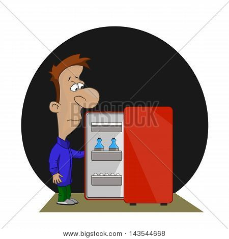 Man Near Refrigerator