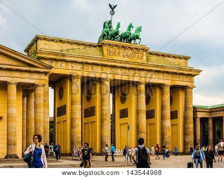 Brandenburger Tor In Berlin (hdr)