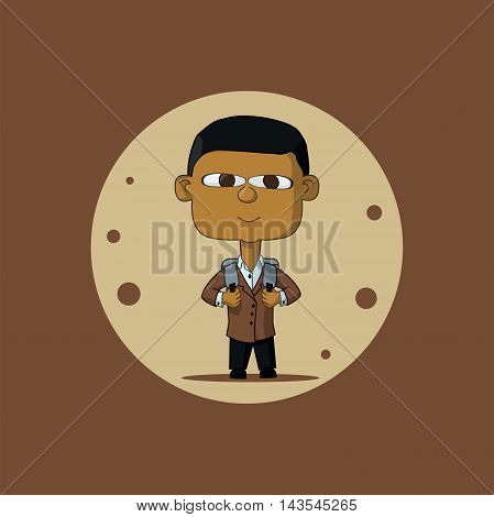 Asian Schoolboy With Briefcase